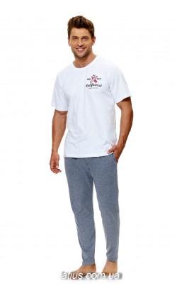 Пижама мужская Doctor Nap (Dobranocka) PMB.9521 White