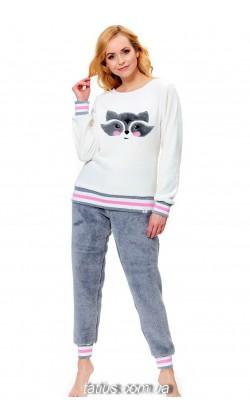 Пижама женская теплая Soft Doctor Nap (Dobranocka) PS.9569 Ecru