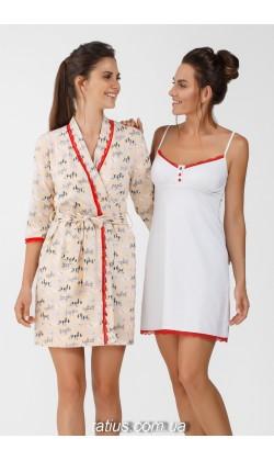 Комплект халат и ночная сорочка Ellen, Dogs