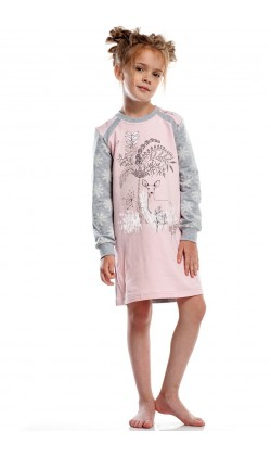 Детская ночная рубашка утепленная для девочки Ellen GND 012/001, Косуля