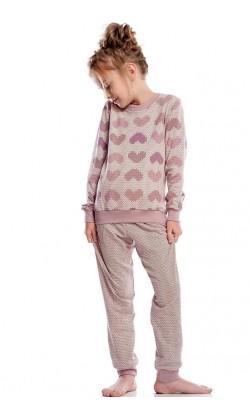 Детская пижама для девочки утепленная Ellen GNP 016/001, Сердца
