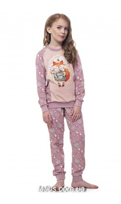 Детская пижама для девочки утепленная Ellen GNP 034/001*,Лисенок