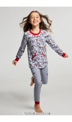Детская пижама для девочки утепленная Ellen GNP 071/001*