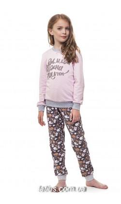 Детская пижама для девочки утепленная Ellen GNP 035/001*,Медвежата