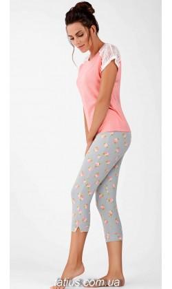 Пижама женская c капри Ellen LNP 138/002