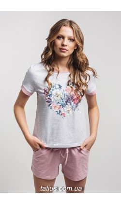 Пижама женская c шортами Ellen LNP 238/001