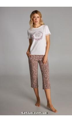 Пижама женская c капри Ellen LNP 301/001