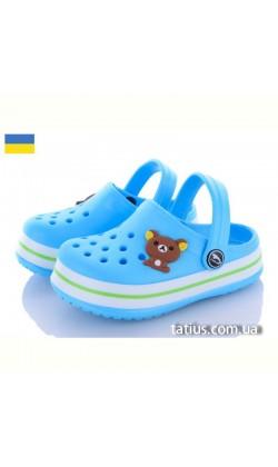 Кроксы сабо детские Luck Line Bear голубой р.24-29
