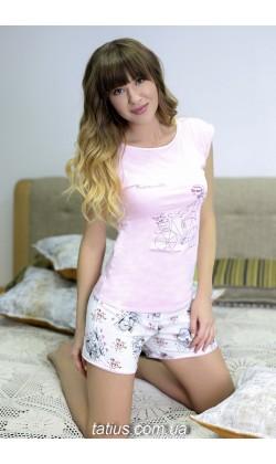Пижама женская с шортами Roksana Mademoiselle-596