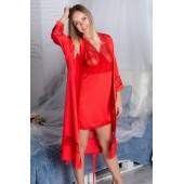 Комплект халат и ночная сорочка MiaNaGreen К904н,Красный