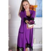 Комплект халат и ночная сорочка вискоза MiaNaGreen К918н,Фиолетовый