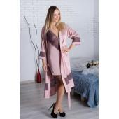Комплект халат и ночная сорочка MiaNaGreen К929н,Мокка