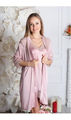 Комплект халат и ночная сорочка MiaNaGreen К930н,Мокка