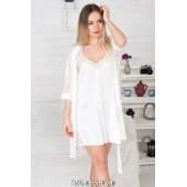 Комплект халат и ночная сорочка MiaNaGreen К803н,Айвори