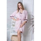 Комплект пижама и халат женский MiaNaGreen Км1090п,Мокко