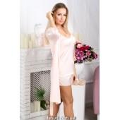 Комплект пижама и халат женский MiaNaGreen Кп09п,Персиковый