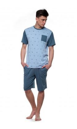 Пижама мужская с шортами Ellen MNP 013/001