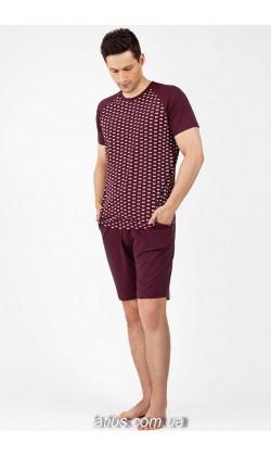 Пижама мужская с шортами Ellen MNP 037/002,Велосипеды