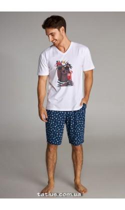 Пижама мужская с шортами Ellen MNP 046/001