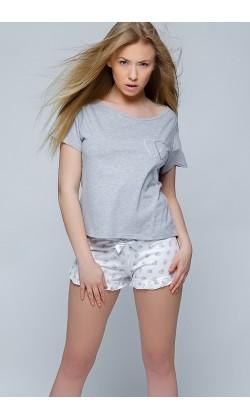 Пижама женская с шортами Sensis Serduszko