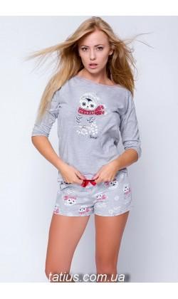 Пижама женская с шортами Snowy Owl