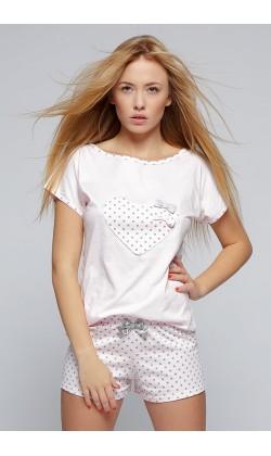 Пижама женская с шортами Sensis Groszki