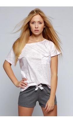 Пижама женская с шортами Sensis Sofia, Розовый