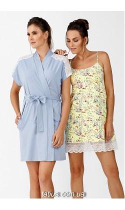 Комплект халат и ночная сорочка Ellen, Sunshine
