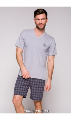 Пижама мужская с шортами Taro Borys-2196,Серый