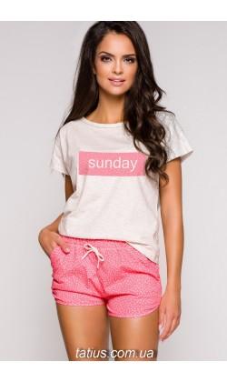 Пижама женская с шортами Taro Pia-2155,Розовый