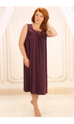 Ночная сорочка женская Violet delux НС-М-42,Сливовое вино