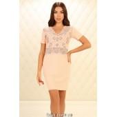 Ночная рубашка женская Violet Delux НС-М-87,Пудра