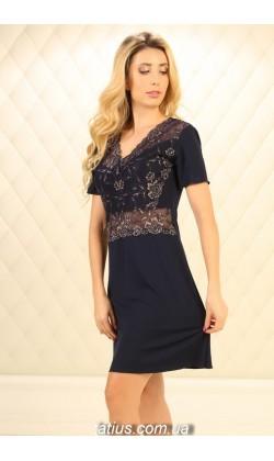 Ночная рубашка женская Violet Delux НС-М-87,Синий