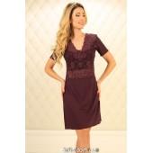 Ночная рубашка женская Violet Delux НС-М-87,Сливовое вино