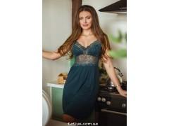 Ночная сорочка женская Violet delux НС-М-83,Малахит