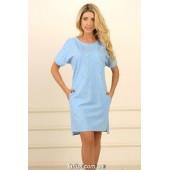 Ночная рубашка женская Violet delux НС-М-91,Тучки
