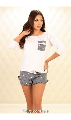 Пижама женская с шортами Violet delux П-М-78