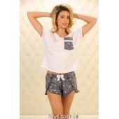 Пижама женская с шортами Violet delux П-М-79