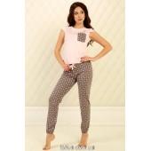 Пижама женская Violet delux П-М-82,Сердечки Розовый
