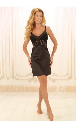 Ночная сорочка женская Violet delux НСШ-М-11, Черный