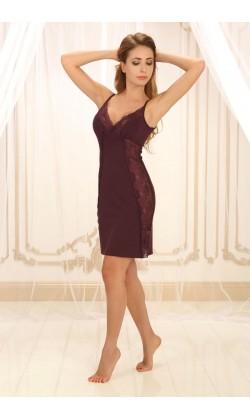 Ночная сорочка женская Violet delux НС-М-22, Сливовое вино