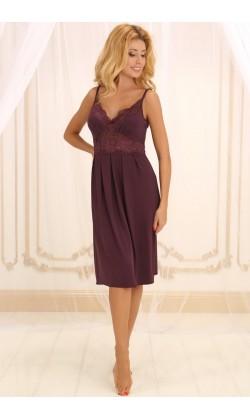 Ночная сорочка женская Violet delux НС-М-28, Сливовое вино