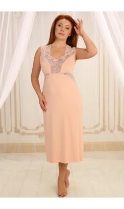 Ночная сорочка женская Violet delux НС-М-60, Пудра