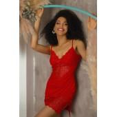 Ночная сорочка женская Violet delux НС-М-71,Carmine
