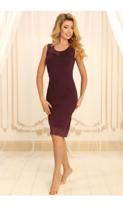 Ночная сорочка женская Violet delux НС-М-75, Сливовое вино