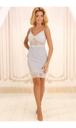 Ночная сорочка женская Violet delux НС-М-77, Меланж серый