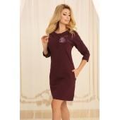 Ночная рубашка женская Violet delux НС-М-79, Сливовое вино