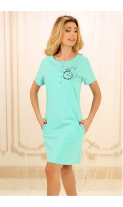 Ночная рубашка женская Violet delux НС-М-84, Мята