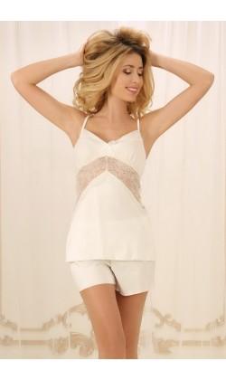Пижама женская с шортами Violet delux ПШ-М-4, Айвори