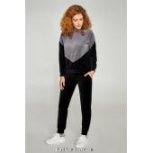 Велюровый прогулочный костюм Ellen Onyx LOV 006/001